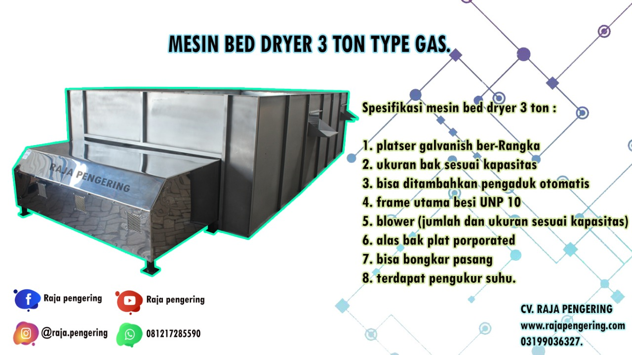 mesin box dryer, mesin bed dryer, mesin pengering padi