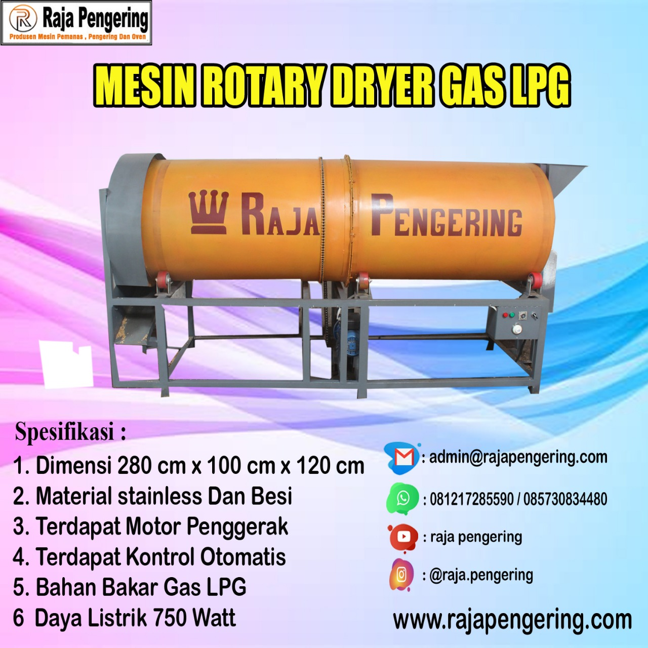 rotary, mesin rotary, rotary dryer