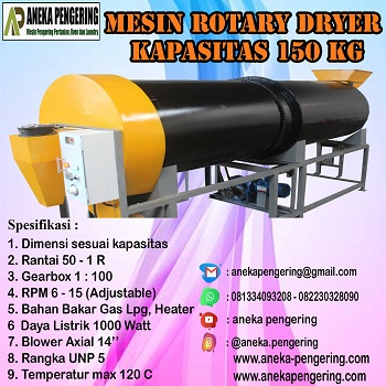 rotary dryer, mesin rotary dryer, mesin pengering padi
